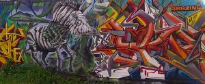 Mural pintado al estilo grafiti en San Juan, PR.